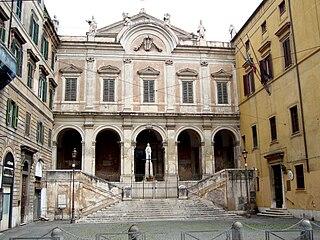 SantEusebio building in Rome, Italy