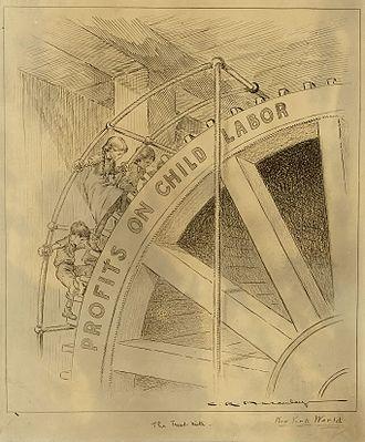 Charles R. Macauley - Image: Child labour cartoon Hine no 3469