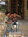 Children in Ribat-i-Abbasi of Nishapur (Hossein - Ali - Fatemeh - Hengameh and another girl - probably Afghani) 06.jpg
