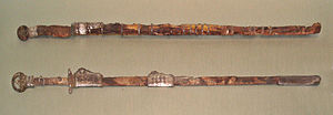 Dao (sword) - Two Sui dynasty zhibeidao with ring-shaped pommels.