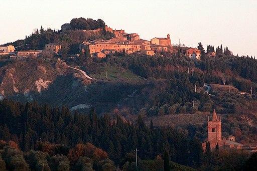 Chiusure and the Campanile of Santa Maria di Monte Oliveto Maggiore
