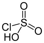 Strukturformel von Chlorsulfonsäure