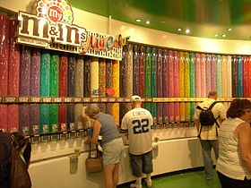 illustration de M&M's World