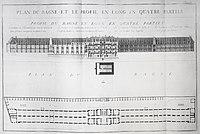 Choquet De Lindu P10 - Plan du bagne et le profil en long en quatre parties.jpg