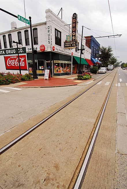 Downtown North Little Rock, known as Argenta, in September 2011 ChrisLitherlandArgenta.jpg