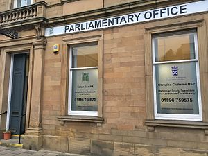 Christine Grahame - Christine Grahame's office in Galashiels, shared with Callum Kerr MP