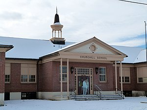 National Register of Historic Places listings in Baker County, Oregon - Image: Churchill School Baker City Oregon