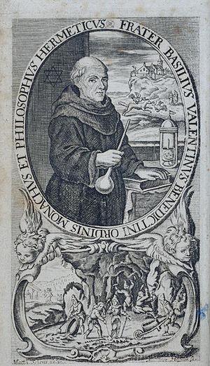 Basil Valentine - Image: Chymische Schrifften 1717 Basilius Valentinus Frontispiece