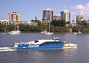 CityCat catamaran ferry on the Brisbane River.