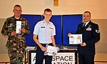Civil Air Patrol Master Sgt. Nathan Baker (left), CAP Staff Sgt. Troy Henson (center), and U.S. Air Force Staff Sgt. Angelito Cooper (right).jpg