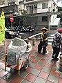 Cleaning Works of DEPCT Working at Sanmin Road, Taipei after Rain 20171013b.jpg