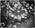 Closer view of round conference table from above, taken at the Potsdam Conference during newly elected British Prime... - NARA - 198703.jpg