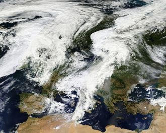Climate of Europe - Clouds over Europe in September 2012
