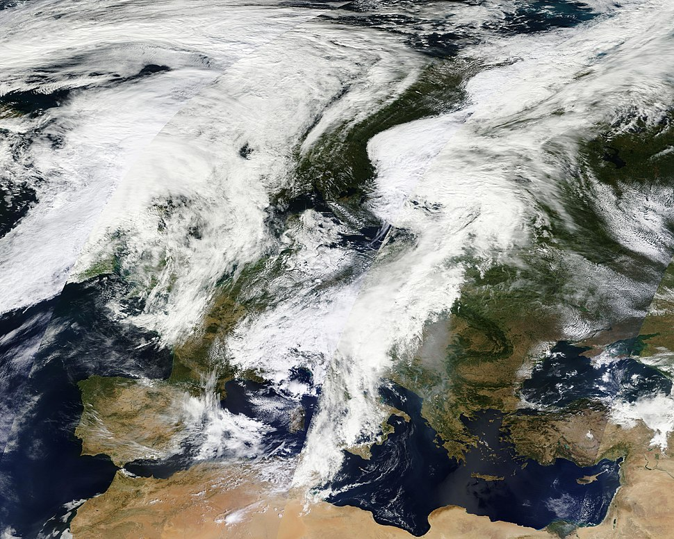Clouds over Europe
