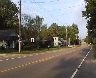 Cloverland, Indiana - Cloverland, Indiana, along State Road 340