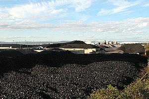 Coal preparation plant - Coal stockpile