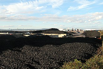 Coal preparation plant - Coal stockpile