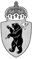 Coat of arms of Yaroslavl Oblast (without supporters, monochrome) 04.png