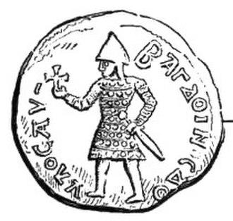 Baldwin II of Jerusalem - Baldwin's coin struck in Edessa