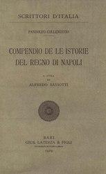 Pandolfo Collenuccio: Compendio de le istorie del Regno di Napoli