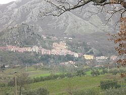 View of Colliano and Collianello (on the top of the hill)