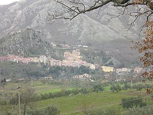 Colliano - View of Colliano and Collianello (on the top of the hill)