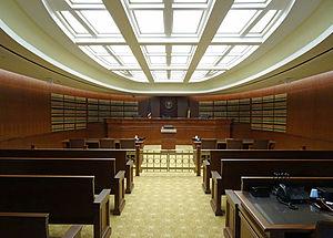 Colorado Court of Appeals - One of the Colorado Court of Appeals courtrooms in the  Ralph L. Carr Colorado Judicial Center in Denver.