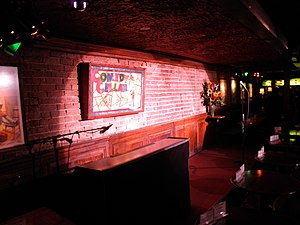 Comedy Cellar - The Comedy Cellar stage as seen from the audience left