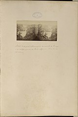 Vista genal estereoscopia da cascata de Princesa e do salto interior do Paulo Affonso olhande - se rio acima