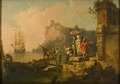Company Embarking on a Launch (Pierre Jacques Volaire) - Nationalmuseum - 17897.tif
