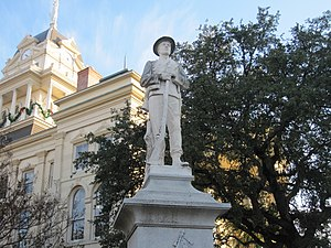 Bell County, Texas - Confederate statue at Bell County Courthouse