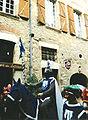 Cordes-sur-Ciel chevalier et palefrenier.jpg