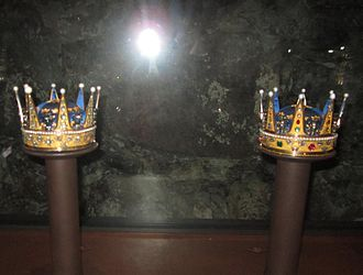 Sophia Albertina, Abbess of Quedlinburg - Coronet (left) created for Sophia Albertina and worn at her brother Gustav's coronation in 1772.