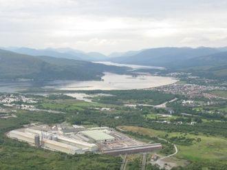Lochaber - Inverlochy aluminium plant and Loch Eil