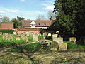 Cottages adjoining St Margarets churchyard, Stradishall (geograph 2924326).jpg