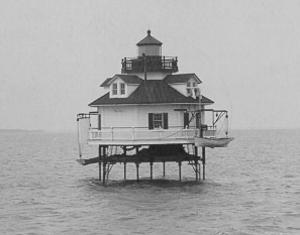 Craney Island Light - Undated photograph of Craney Island Light (USCG)