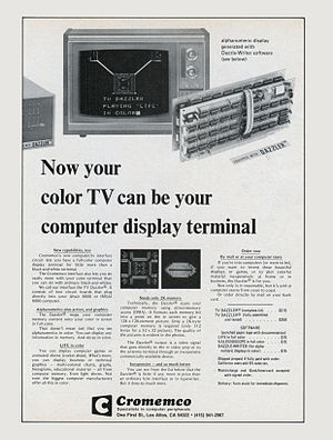 Cromemco Dazzler -  The Cromemco TV Dazzler introductory advertisement, April 1976.
