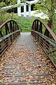 Crossing the trail bridge on Towpath Trail (15266697509).jpg