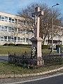 Crucifix and Petőfi Sándor Elementary School, 2019 Kisbér.jpg