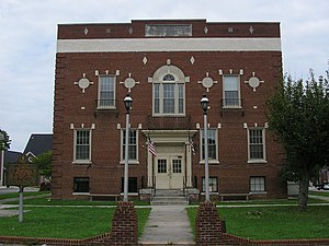 Burkesville, Kentucky - Cumberland County courthouse in Burkesville