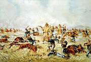 Custer Massacre At Big Horn, Montana June 25 1876