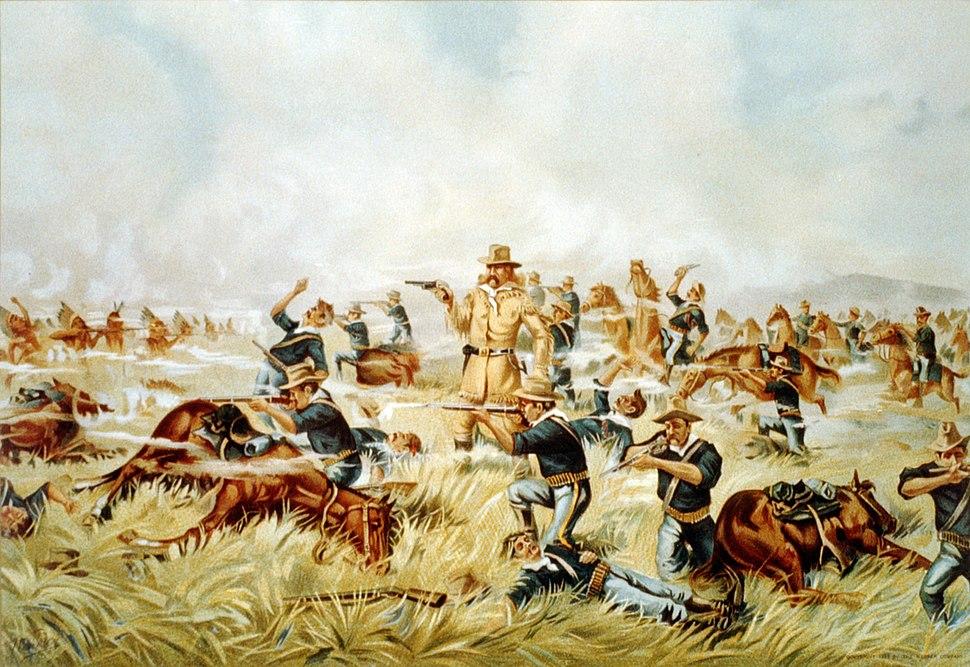 Custer Massacre At Big Horn, Montana June 25 1876