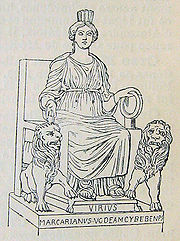 The Phrygian goddess Cybele with her attributes