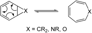 Example of a pericyclic reaction the  Cyclohexatriene norcaradiene rearrangement
