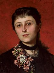 Portrait of Maria Godlewska née Popiel (1853-1900).