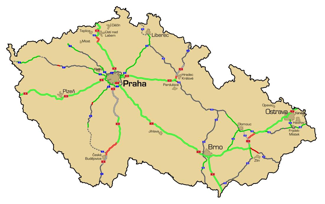 Autostrady I Drogi Ekspresowe W Czechach Wikipedia