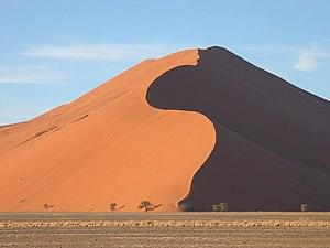 A dune in Sossusvlei, Namibia