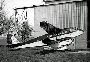 Netheravon Airfield - DH.89A Dragon Rapide G-AJHO of the Army Parachute Association at Netheravon, 1968