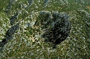 La dolina di Su Suercone, tra il Supramonte di Orgosolo (NU) e quello di Dorgali (NU)