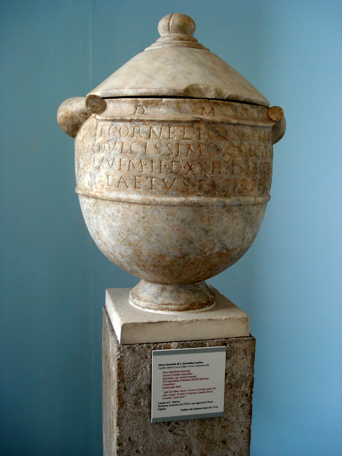 urne funeraire ou cineraire